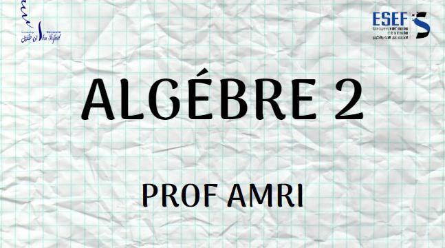 Algèbre 2