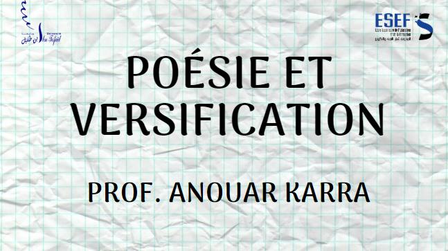 Poésie et versification