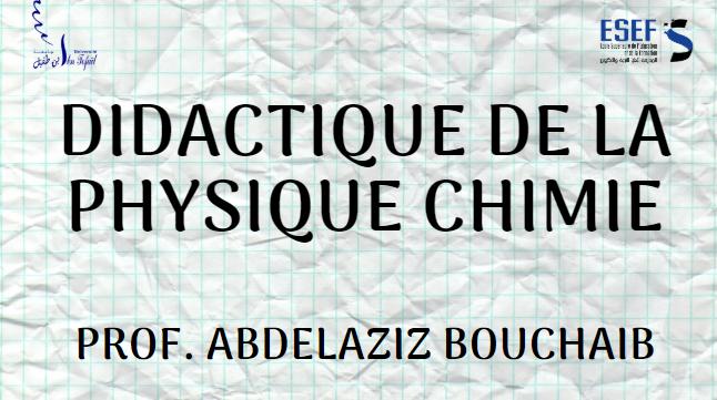 Didactique de la physique Chimie